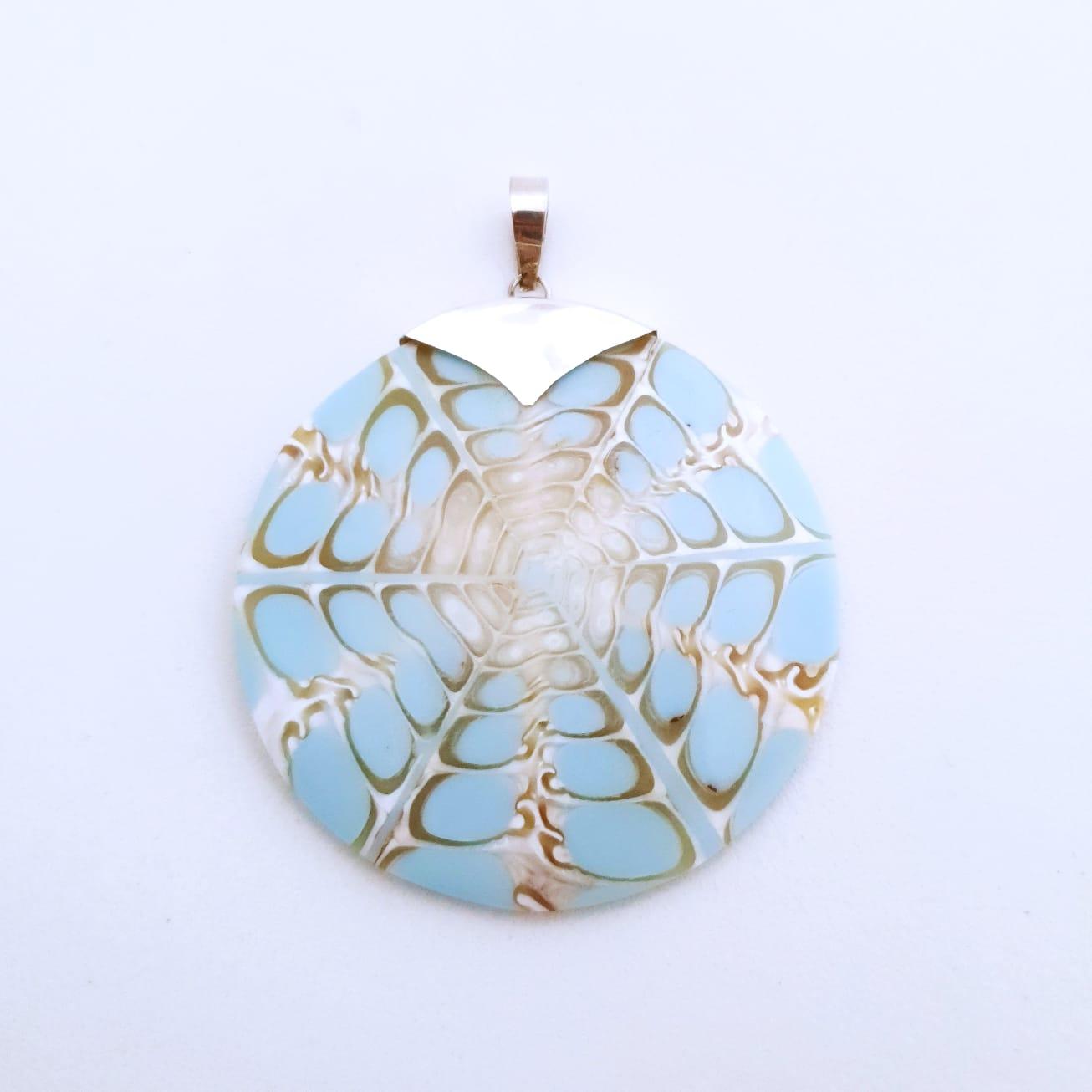 Pingente de Prata Mandala Blue