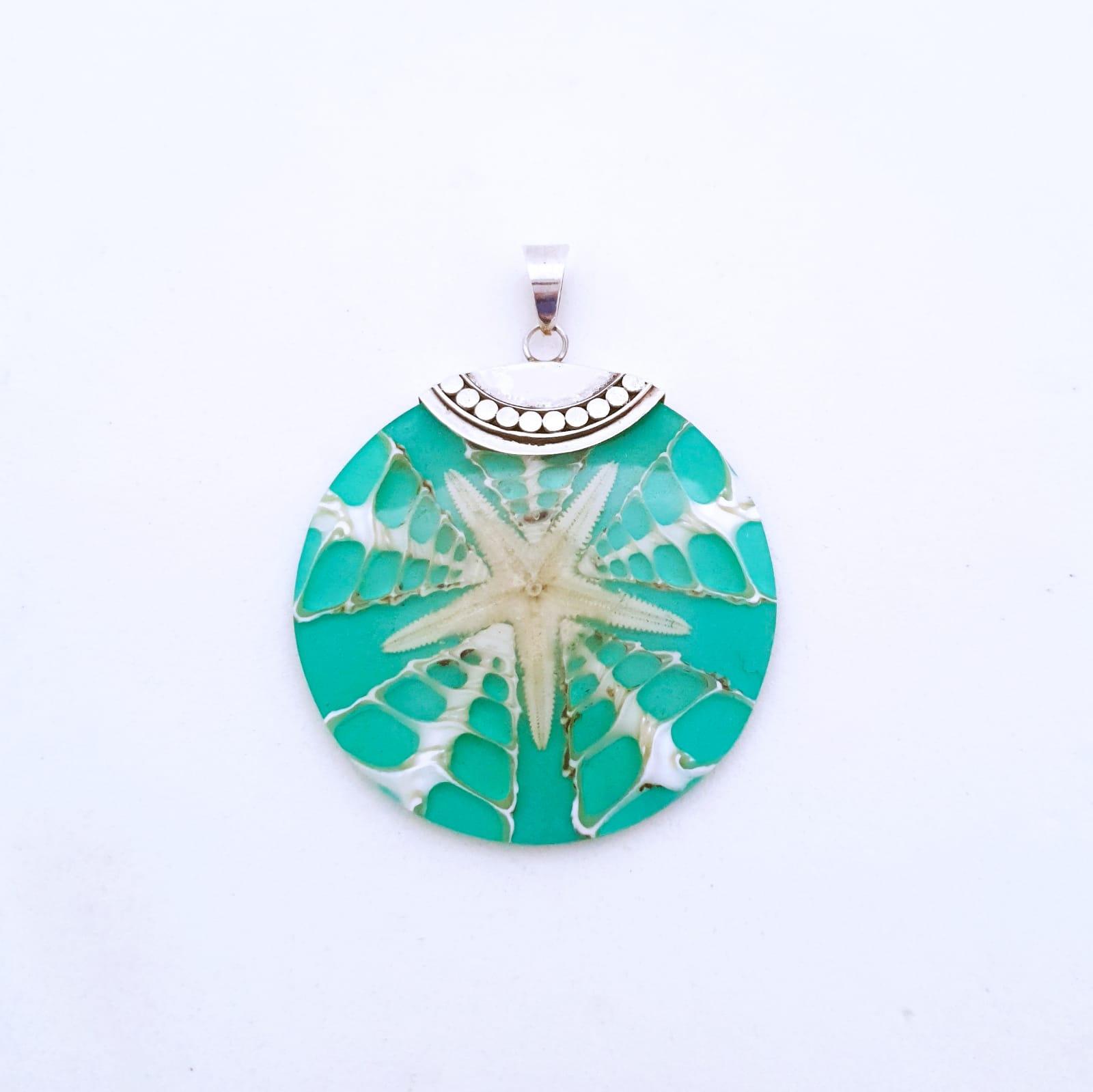 Pingente de Prata Mandala Estrela do Mar