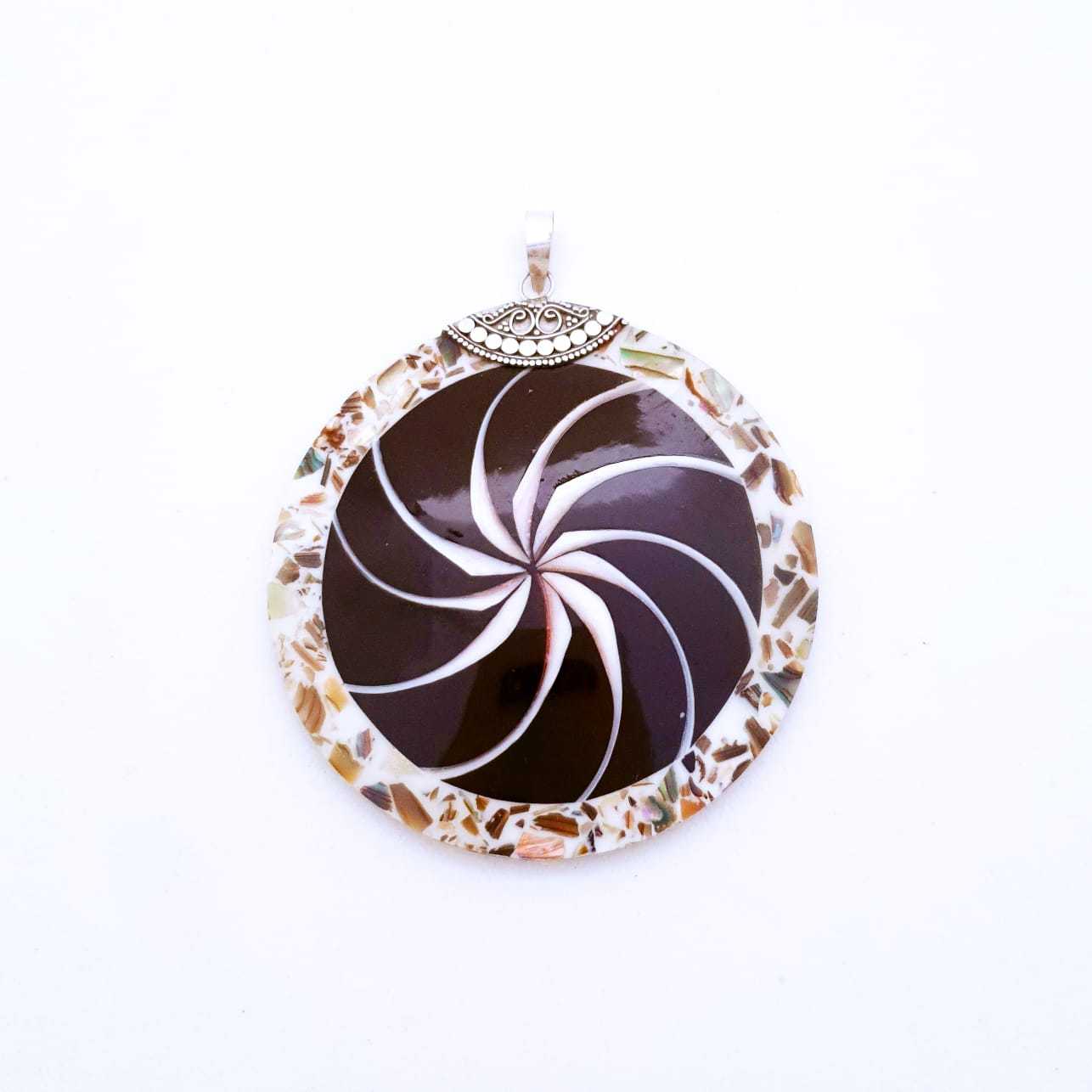 Pingente de Prata Mandala Mosaico