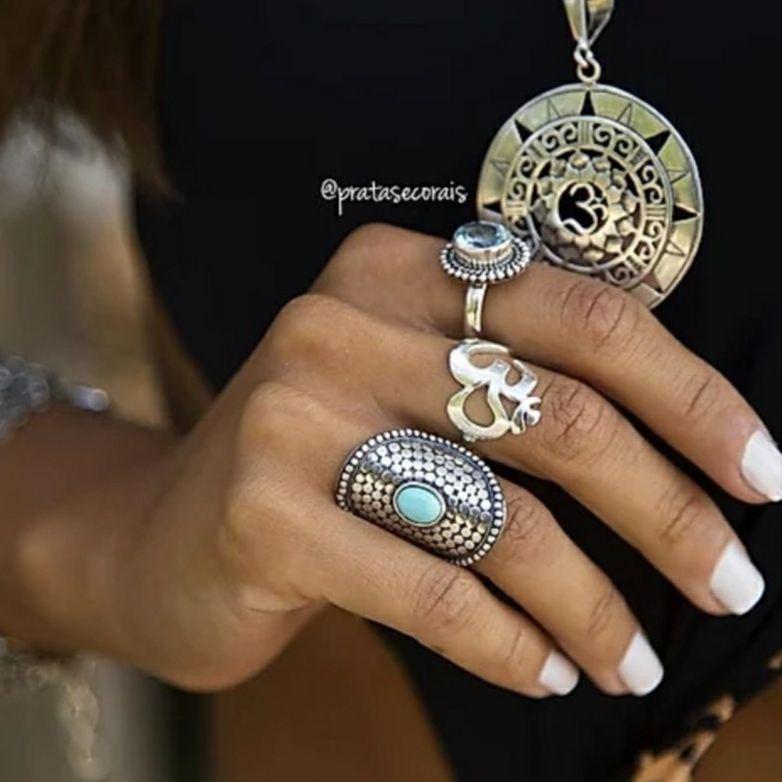 Pingente de Prata Mandala OM