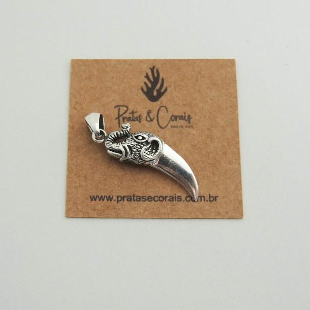 Pingente de Prata Marfim de Elefante