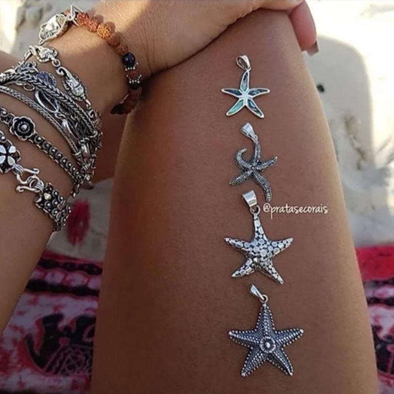 Pingente de Prata Nova Estrela do Mar
