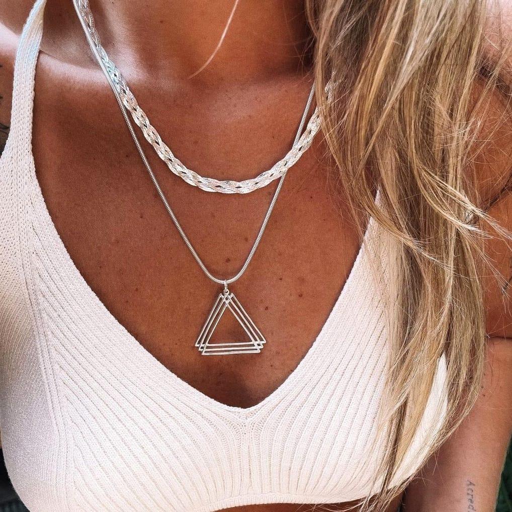Pingente de Prata Pirâmide