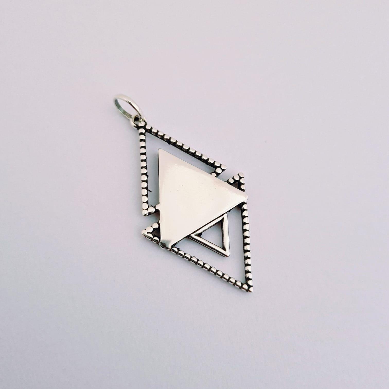 Pingente de Prata Geométrico Boho