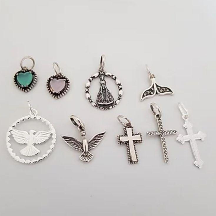 Pingente de Prata Patuá Miniatura - Modelos Diversos