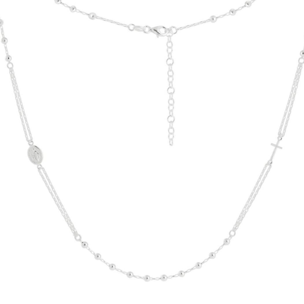 Terço de Prata Modelo Tiffany