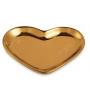 Pratinho Coração Dourado - 12,5x10cm