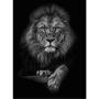 Quadro Coleção Fauna - Lion P&B