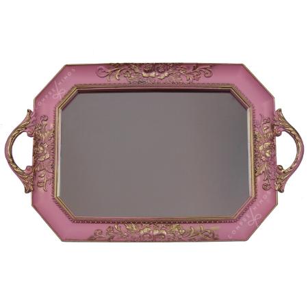 Bandeja Resinada com Espelho - 24x39cm