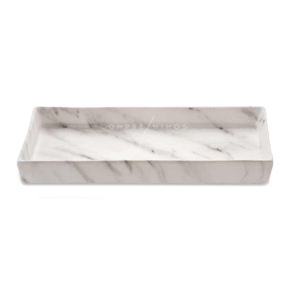 Bandeja Retangular Carrara em Cerâmica- 3x29x13,5cm