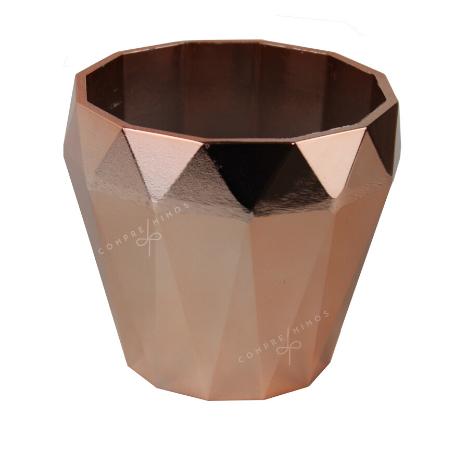 Cachepô Formato Diamante - Rosê Gold