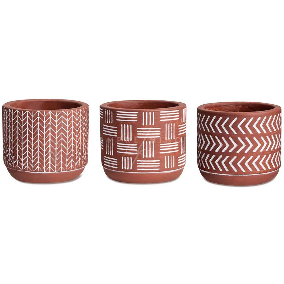 Cachepô/Vaso Boho de Cimento  - 3 Modelos - Unidade