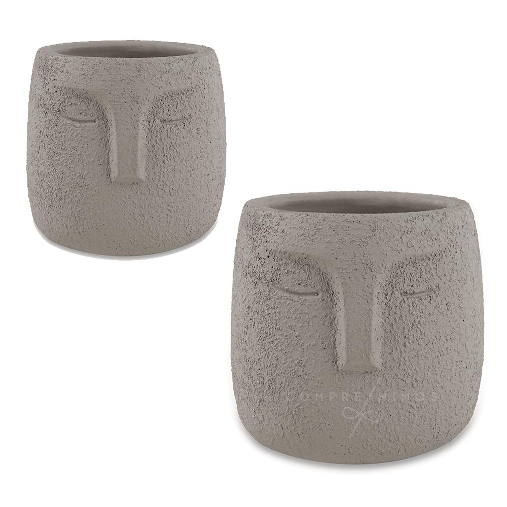 Cachepô/Vaso Face - Cimento - Unidade