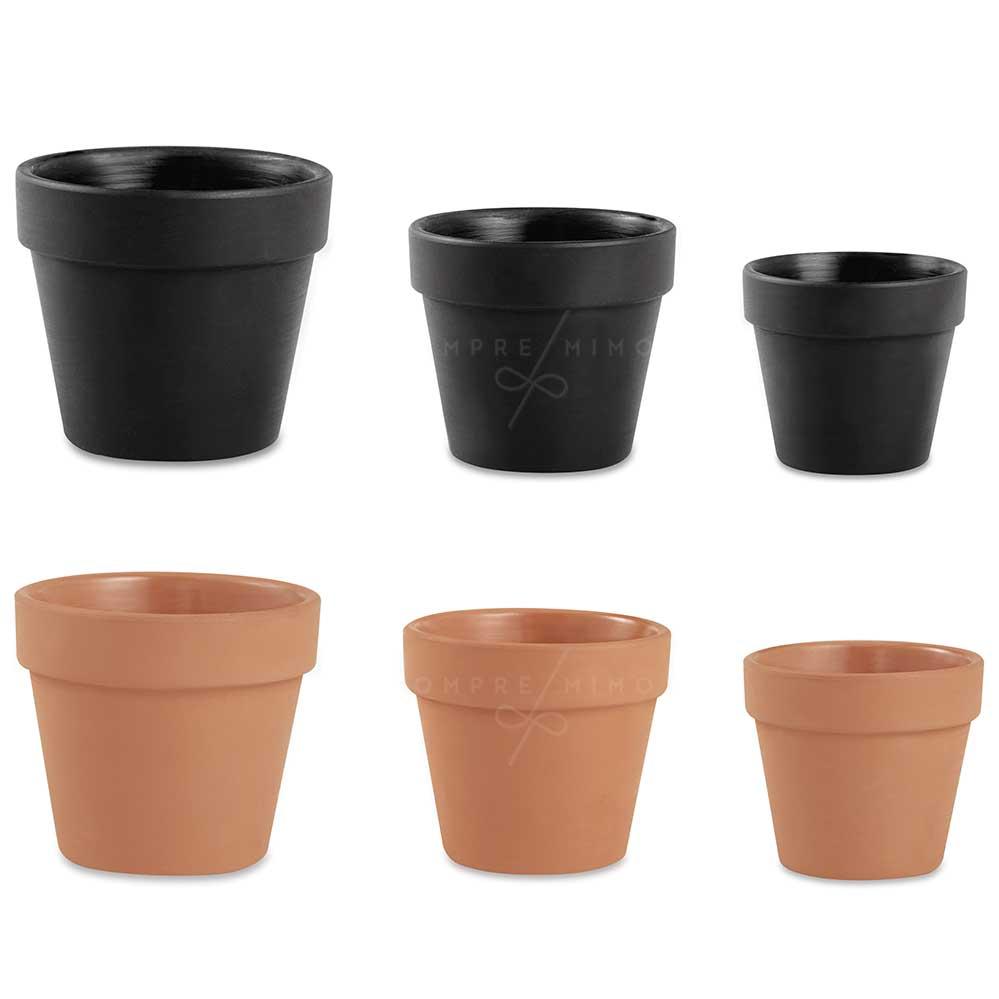 Cachepô/Vaso Jardim de Cimento - Terracota ou Black - Unidade
