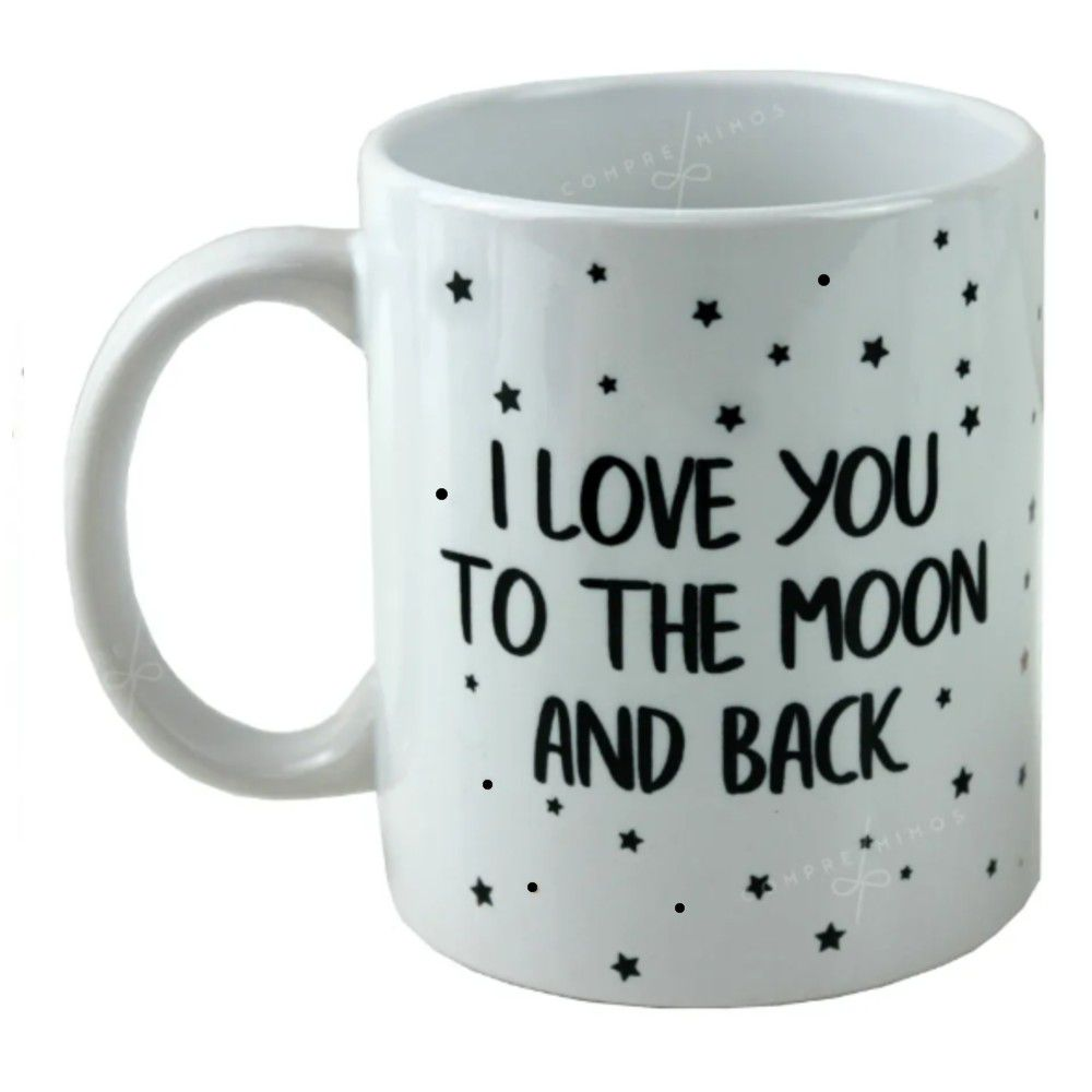 Caneca Porcelana - I LOVE YOU TO THE MOON AND BACK - 325ml
