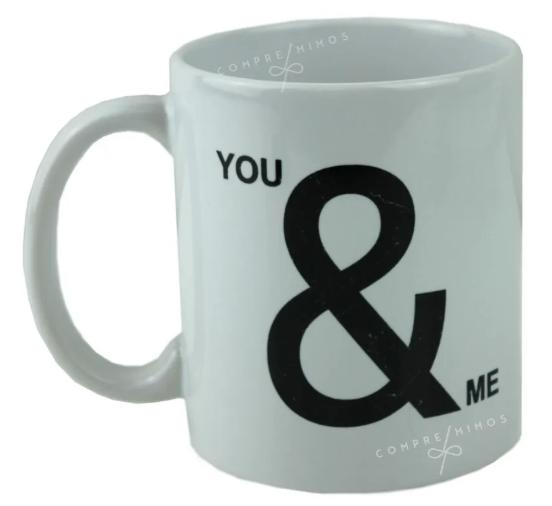 Caneca Porcelana - YOU & ME - 325ml