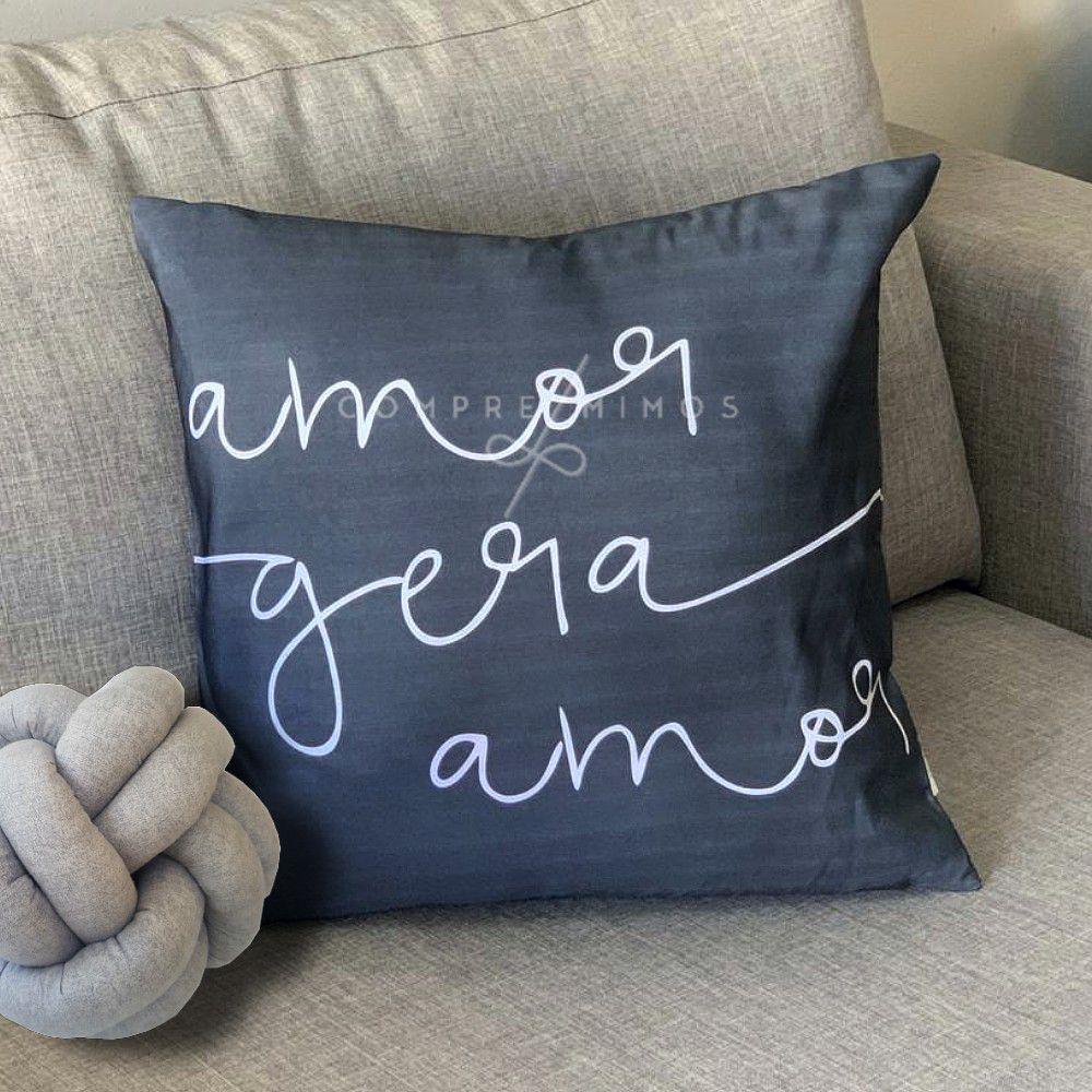 Capa Para Almofada  Amor Gera Amor - 40cm