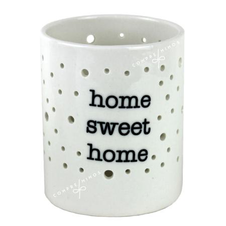 Castiçal/Porta Velas Porcelana Home Sweet Home
