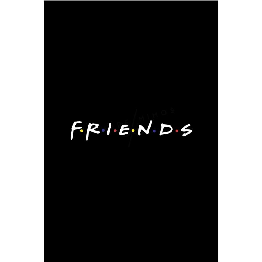 Quadro Coleção  Friends - Black