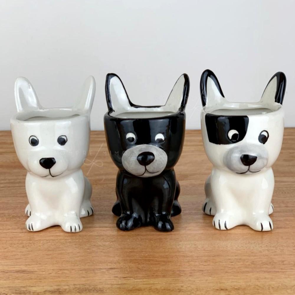 Cachepô Dog de Cerâmica - 3 Opções