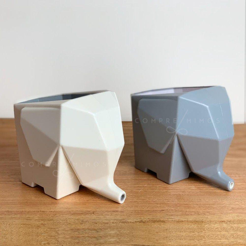 Escorredor geométrico de Elefante - Cinza ou Off-white