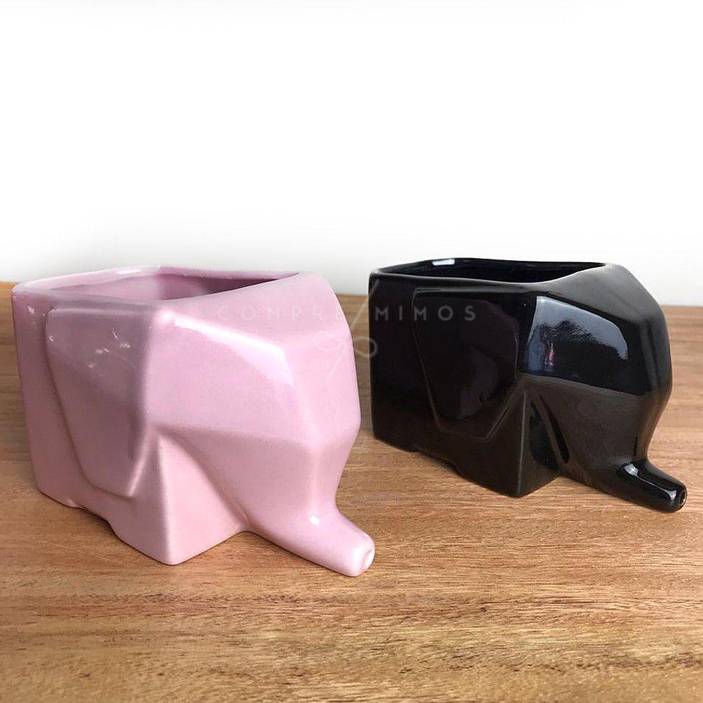 Escorredor geométrico de Elefante - Porcelana - Rosa ou Preto