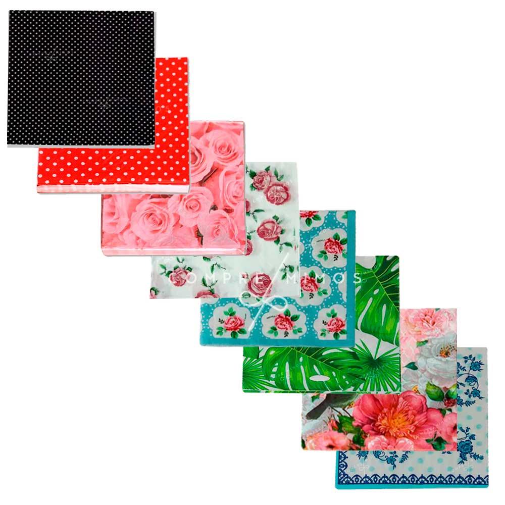 Guardanapo de Papel variados - Embalagem c/ 23 peças de 33x33cm