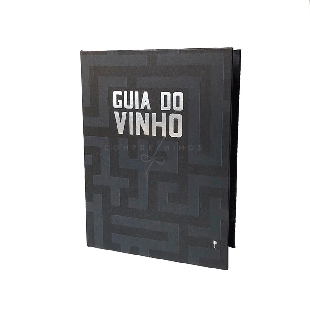 Guia do Vinho - Kit com Livro Caixa Decorativo, Saca Rolha e Tampa - 15,5x11x,3cm