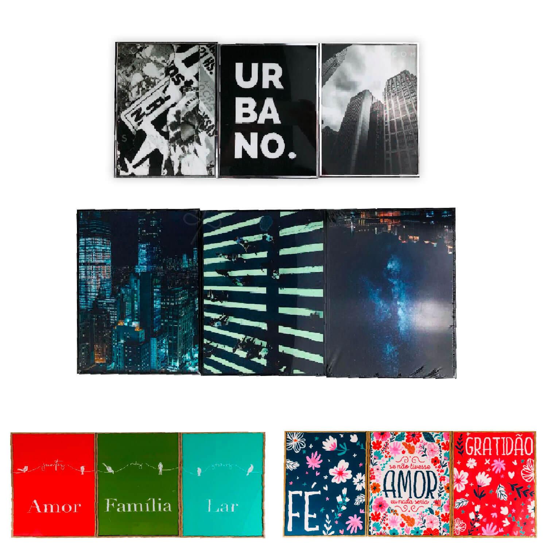 kit Coleção Shine 3 Quadros - 4 composições