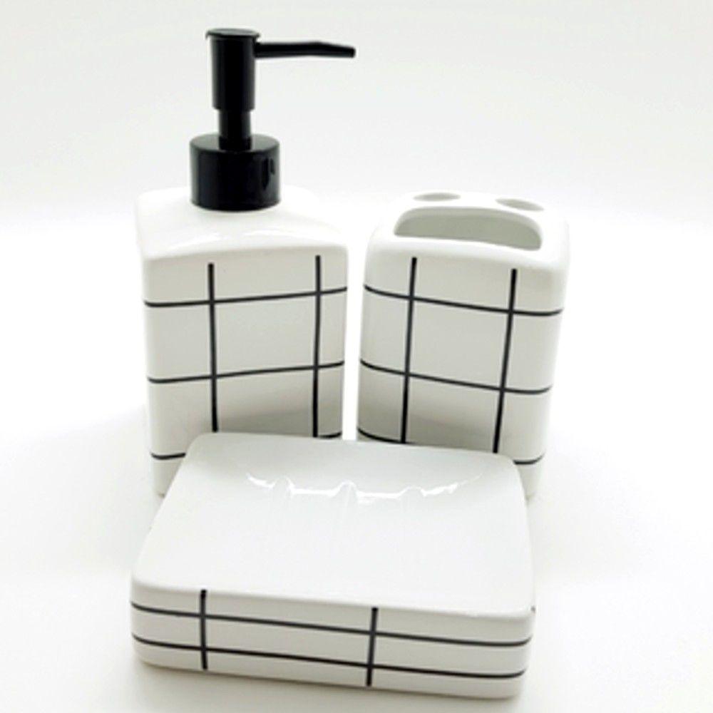 Kit Banheiro Grid - 3 Peças