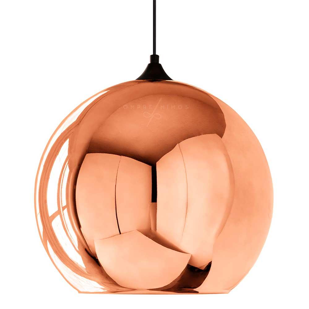 Luminária Pendente Globo em Bronze - 35x35x36cm