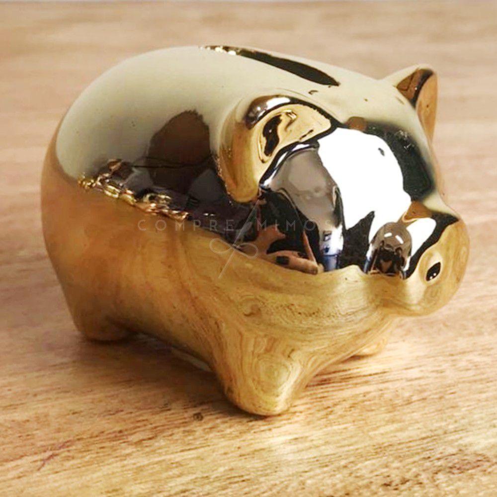 Miniatura de Porquinho Cofre Cromado