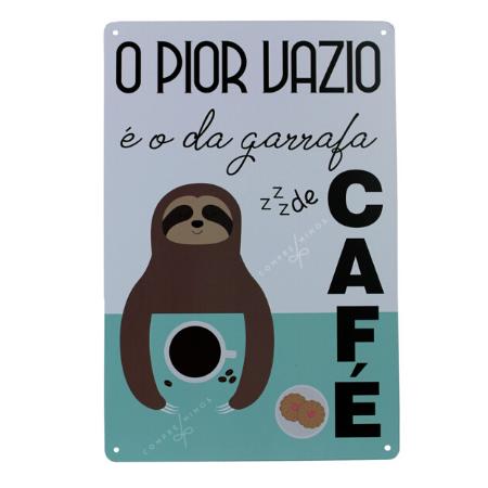 Placa de Metal CAFÉ - 20X30