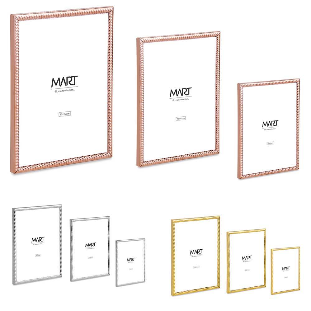 Porta Retrato Espiral em Metal - Prata, Dourado ou Rose Gold - P, M e G