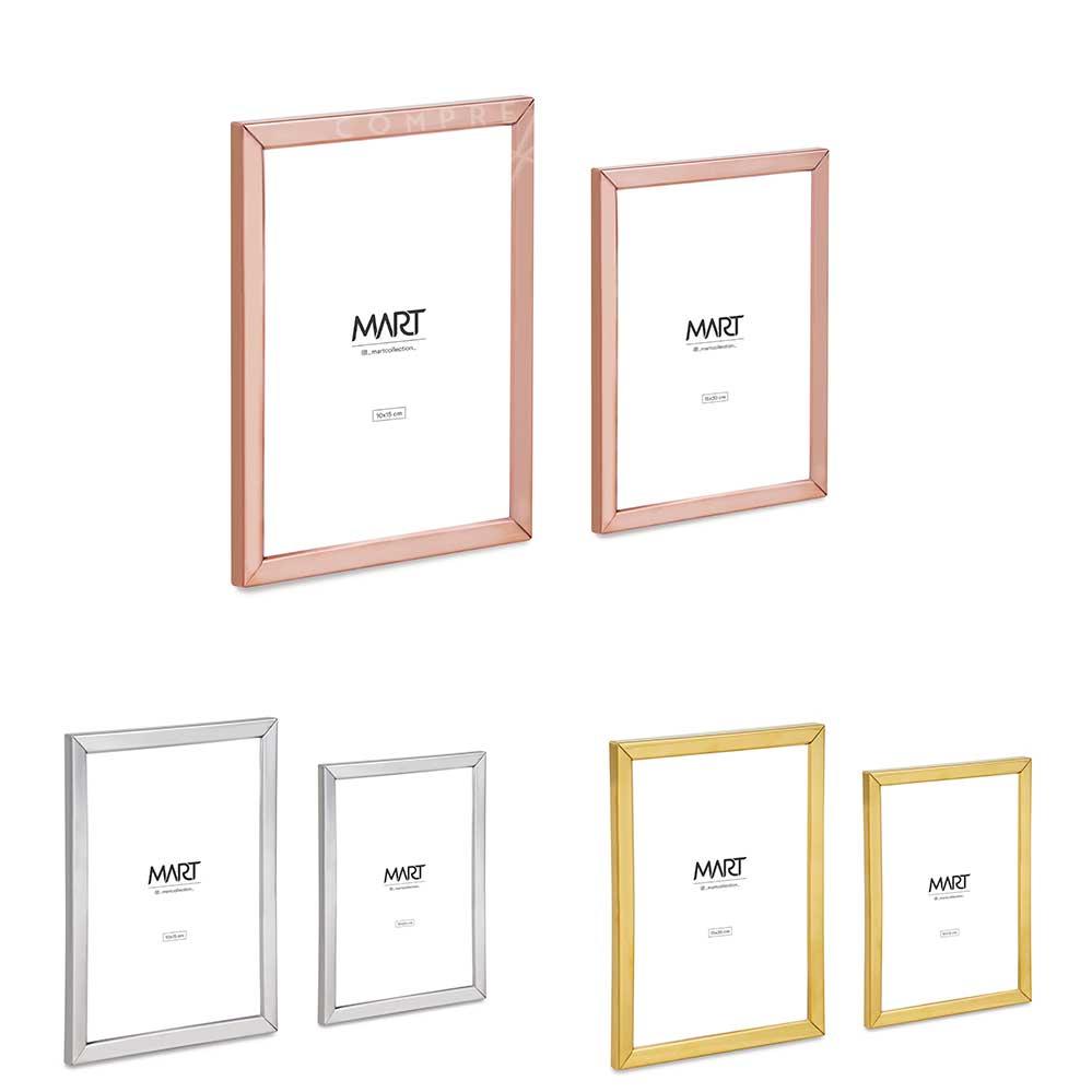 Porta Retrato Minimal em Metal - Prata, Dourado ou Rose Gold - P e M