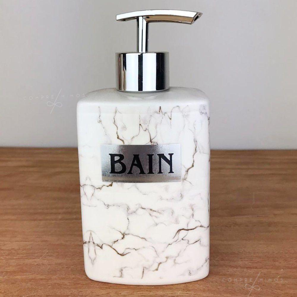 Porta Sabonete Líquido Bain - Marmorizado - Banheiro