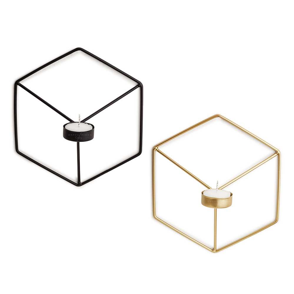 Porta Vela Hexágono Metal - Dourado ou Black