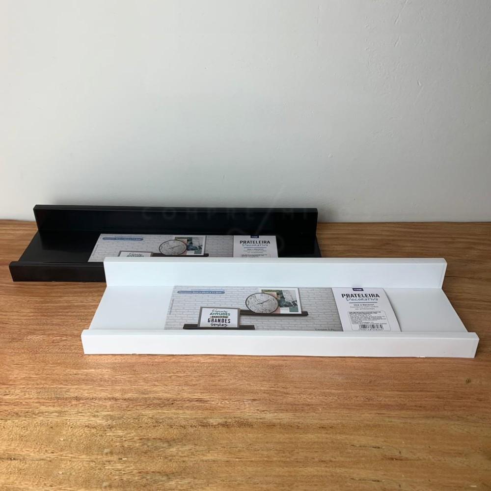 Prateleira Decorativa para Quadros/Livros - Preta ou Branca - G -  5x40x11,2cm