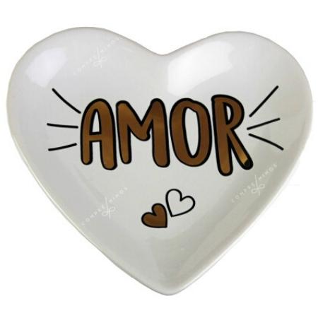 Pratinho Amor e Corações - 12x11,5cm