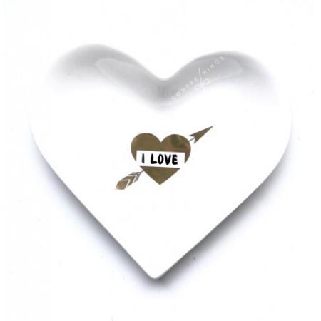 Pratinho Cerâmica Heart Love - 12x12cm