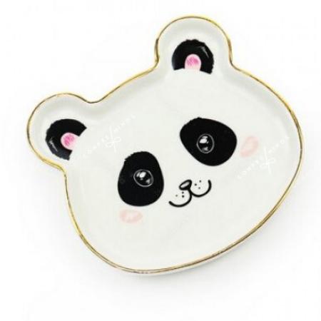 Pratinho Cerâmica Panda - 11x11cm