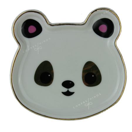 Pratinho Cerâmica Urso - 11x11cm