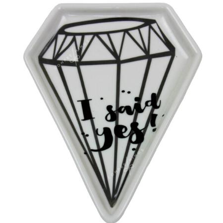Pratinho Diamante Com Frase - 11x14cm