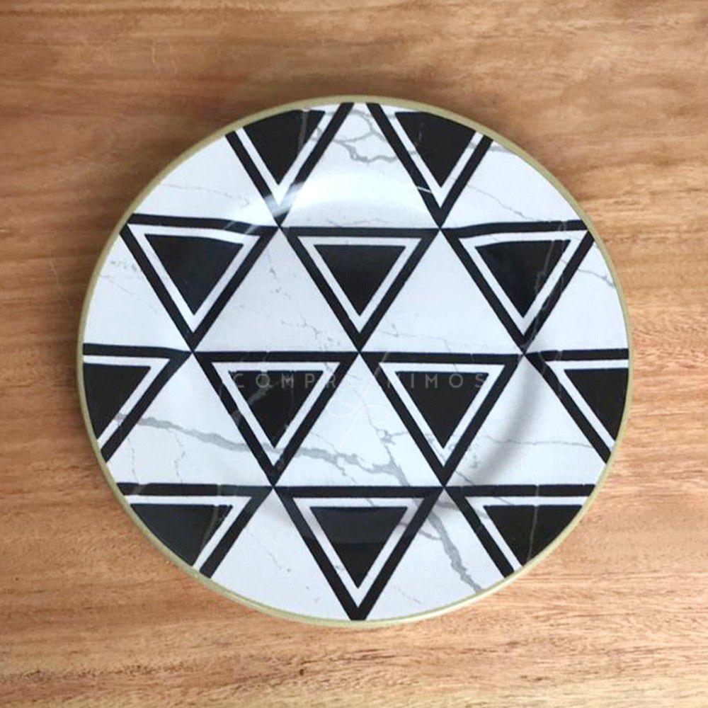 Prato Para Sobremesa Geométrico - 20cm