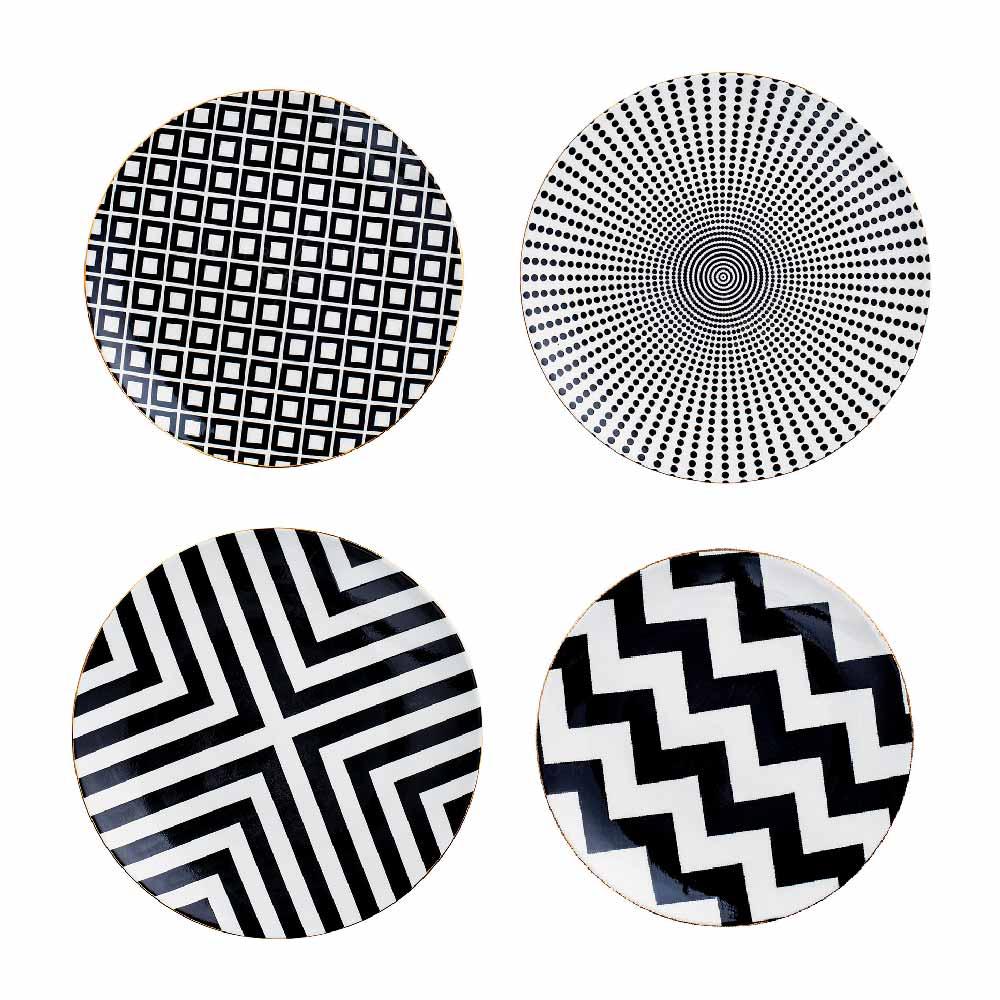 Pratos Decorativos Geométricos em Cerâmica - M ou G - UN