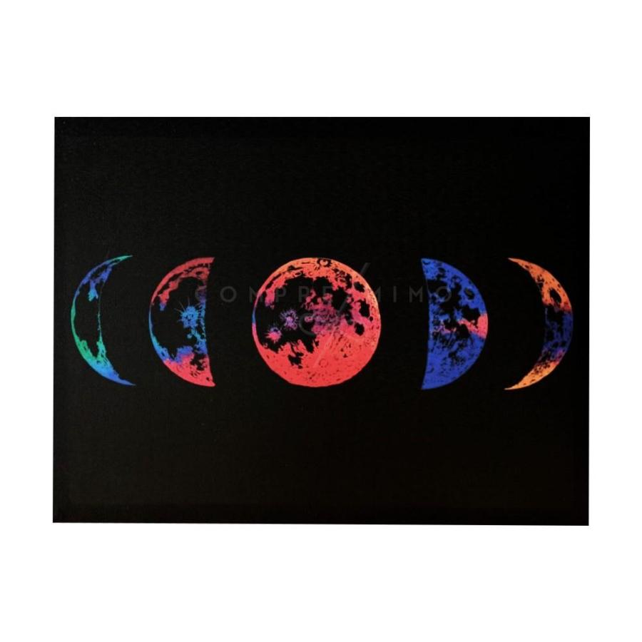 Quadro Fases da Lua em Canva - 30x40cm