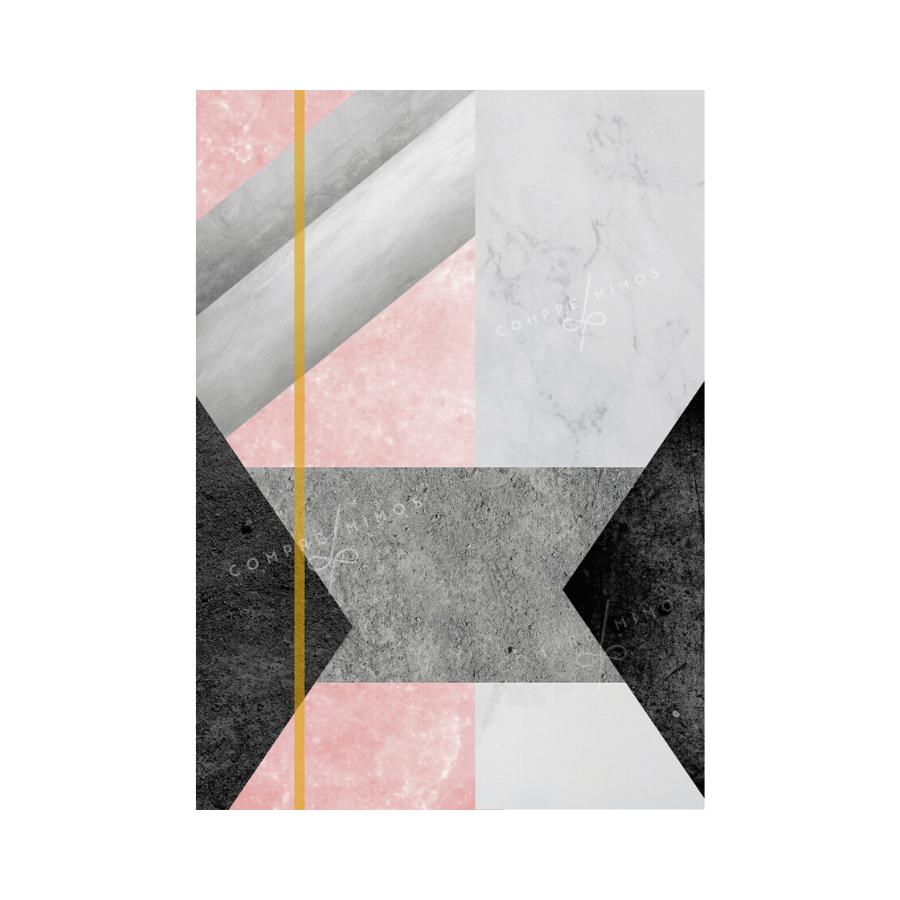 Quadro Geométrico Rosa