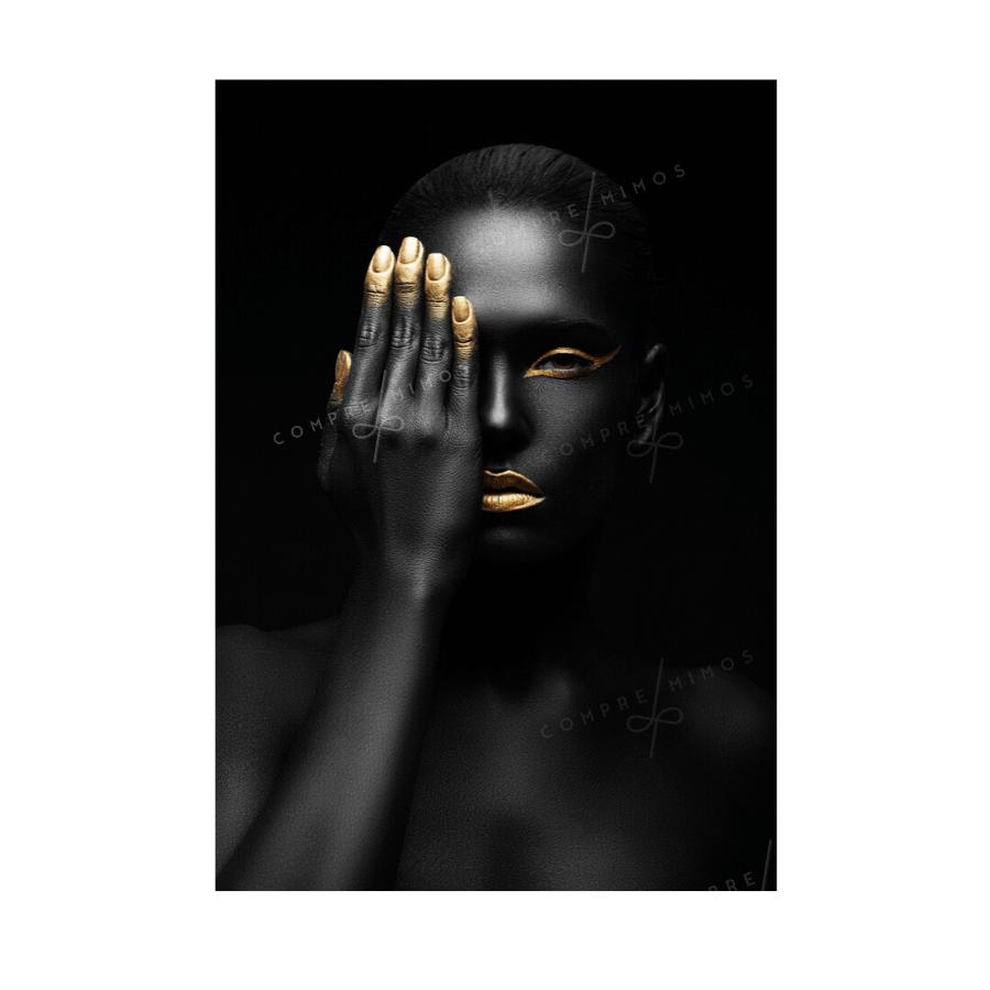 Quadro Mulher - Black  and Golden - Uni 1