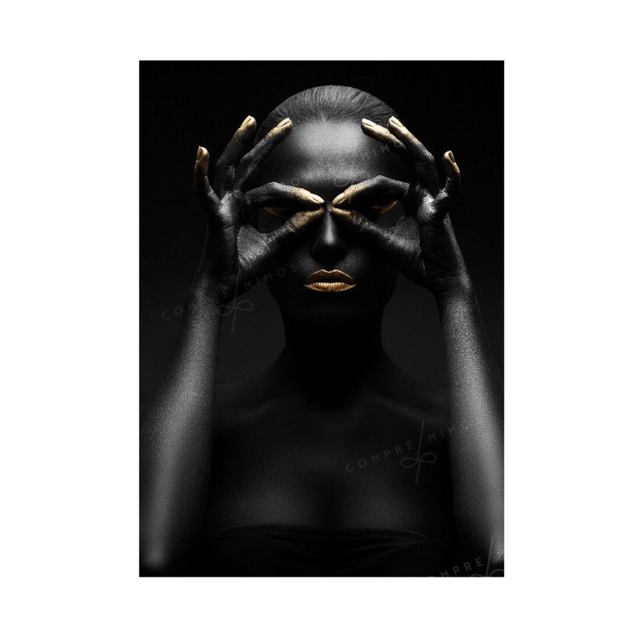 Quadro Mulher - Black  and Golden - Uni 3