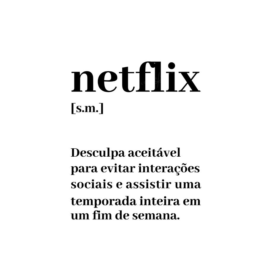 Quadro  Netflix  Branco